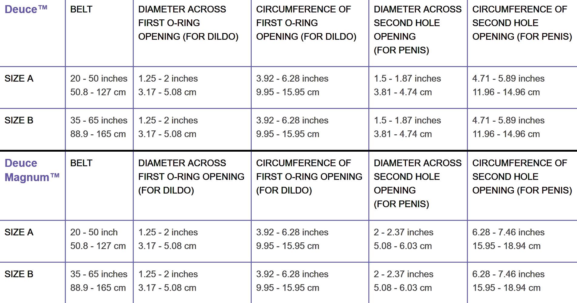Deuce Size Chart.png