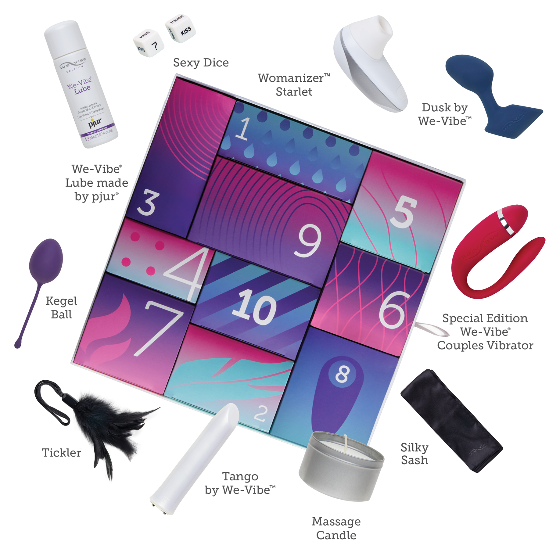We-Vibe Discover Gift Box - Ten Beautifully Packaged Luxurious Gifts