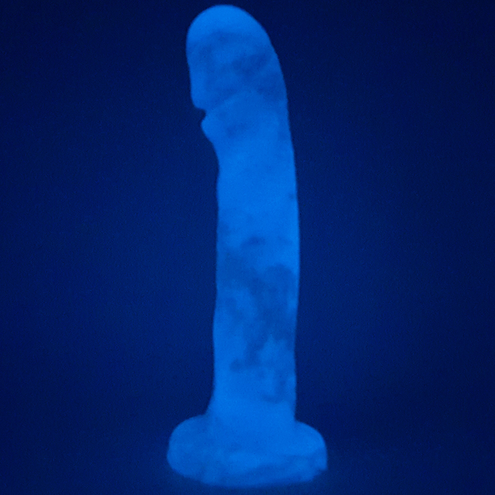 The Dr. Manhattan Silicone Dildo Glowing-In-The-Dark