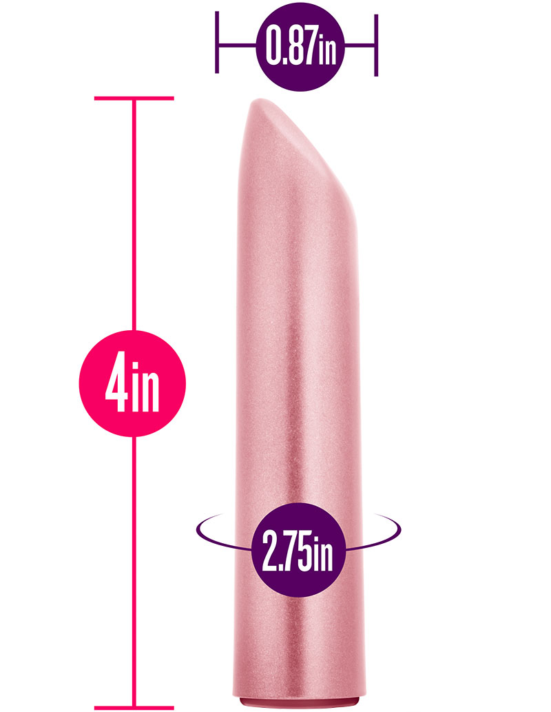 Exposed Nocturnal Rechargeable Lipstick Vibe - Dimensions