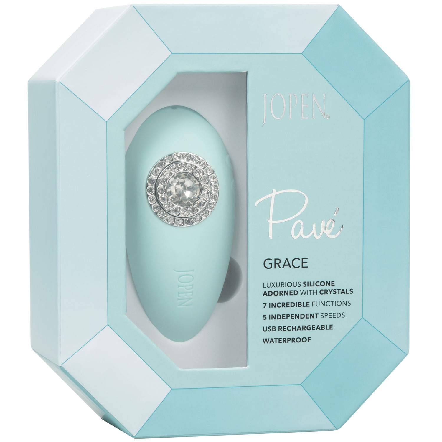 Pave Grace Rechargeable Waterproof Silicone Mini Massager - Package