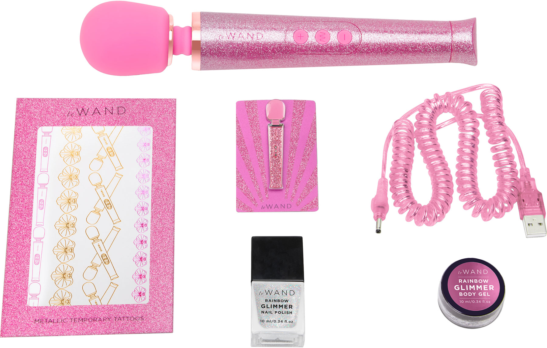 Le Wand Petite All That Glimmers Special Edition Rechargeable Vibrating Body Massager - What's Included