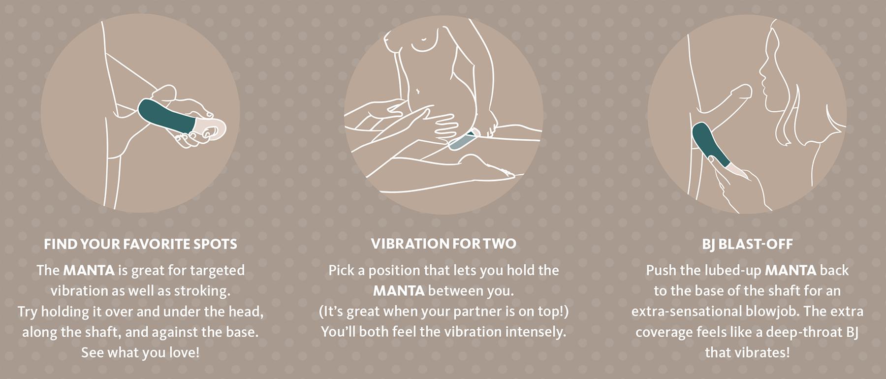 Fun Factory MANTA Vibrating Penis Stroker - How To