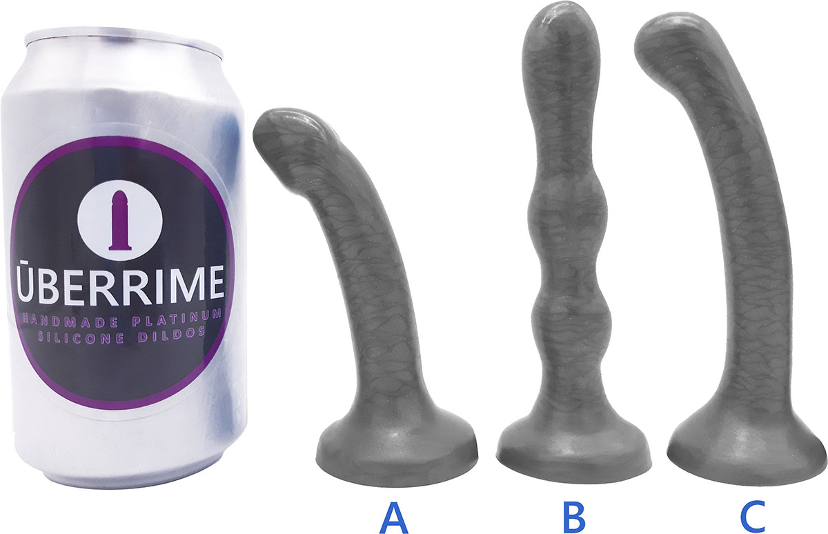 The Minima Small Silicone Dildo Set By Uberrime - Size Chart