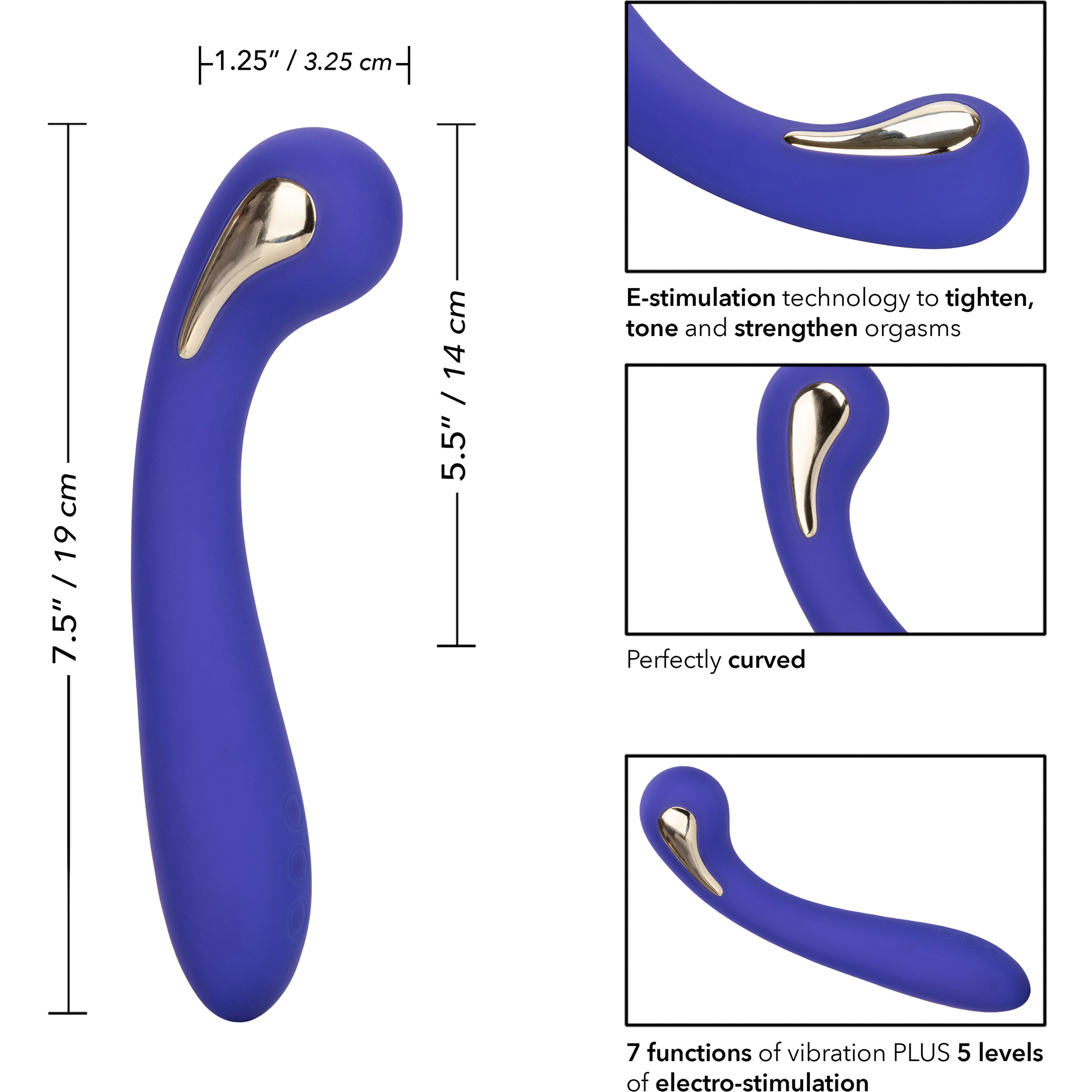Impulse Intimate E-Stimulator Petite G Wand G-Spot Vibrator - Measurements