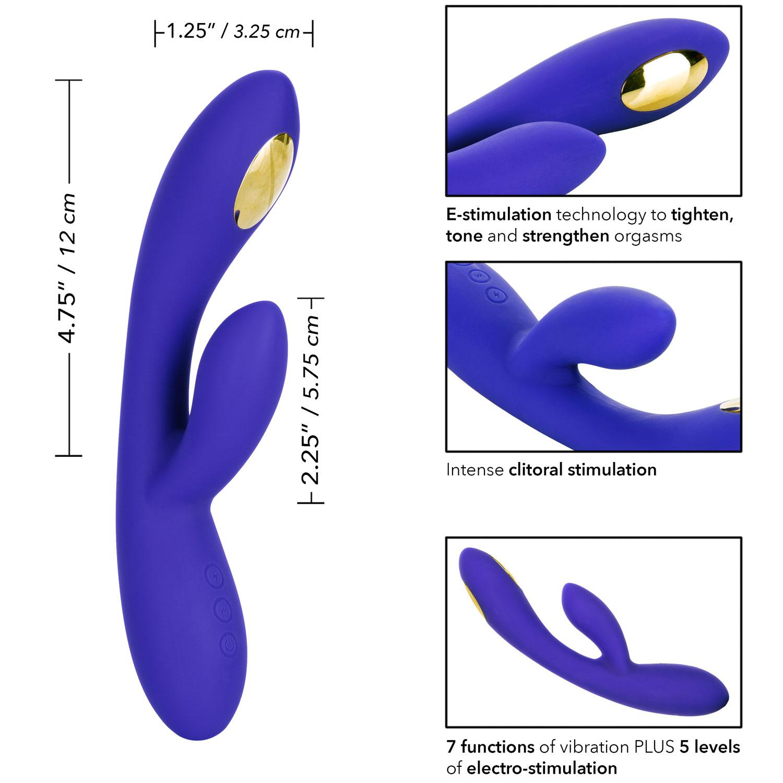 Impulse Intimate E-Stimulator Dual Wand Rabbit Style Vibrator by CalExotics - Measurements