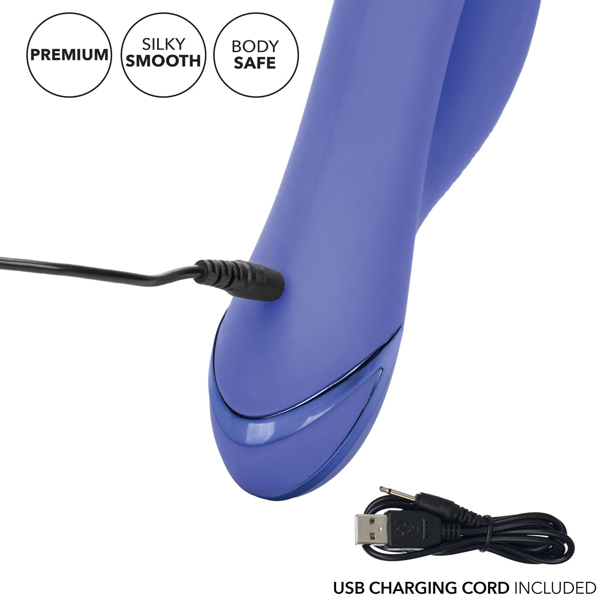 California Dreaming Beverly Hills Bunny Rabbit Style Silicone Vibrator - Charging