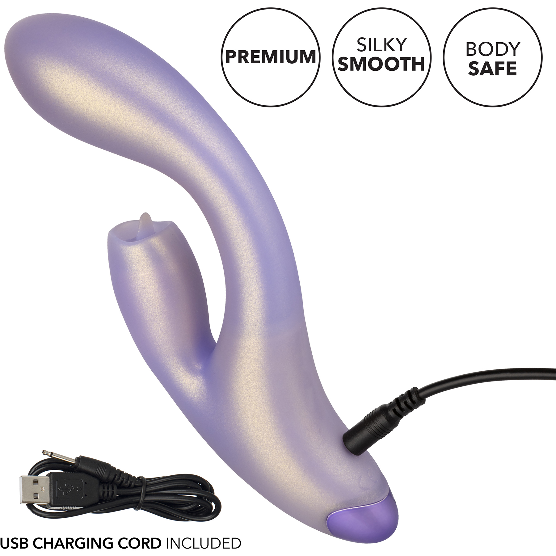 G-Love G-Kiss Silicone Rechargeable Waterproof Dual Stimulation Vibrator By CalExotics - Charging