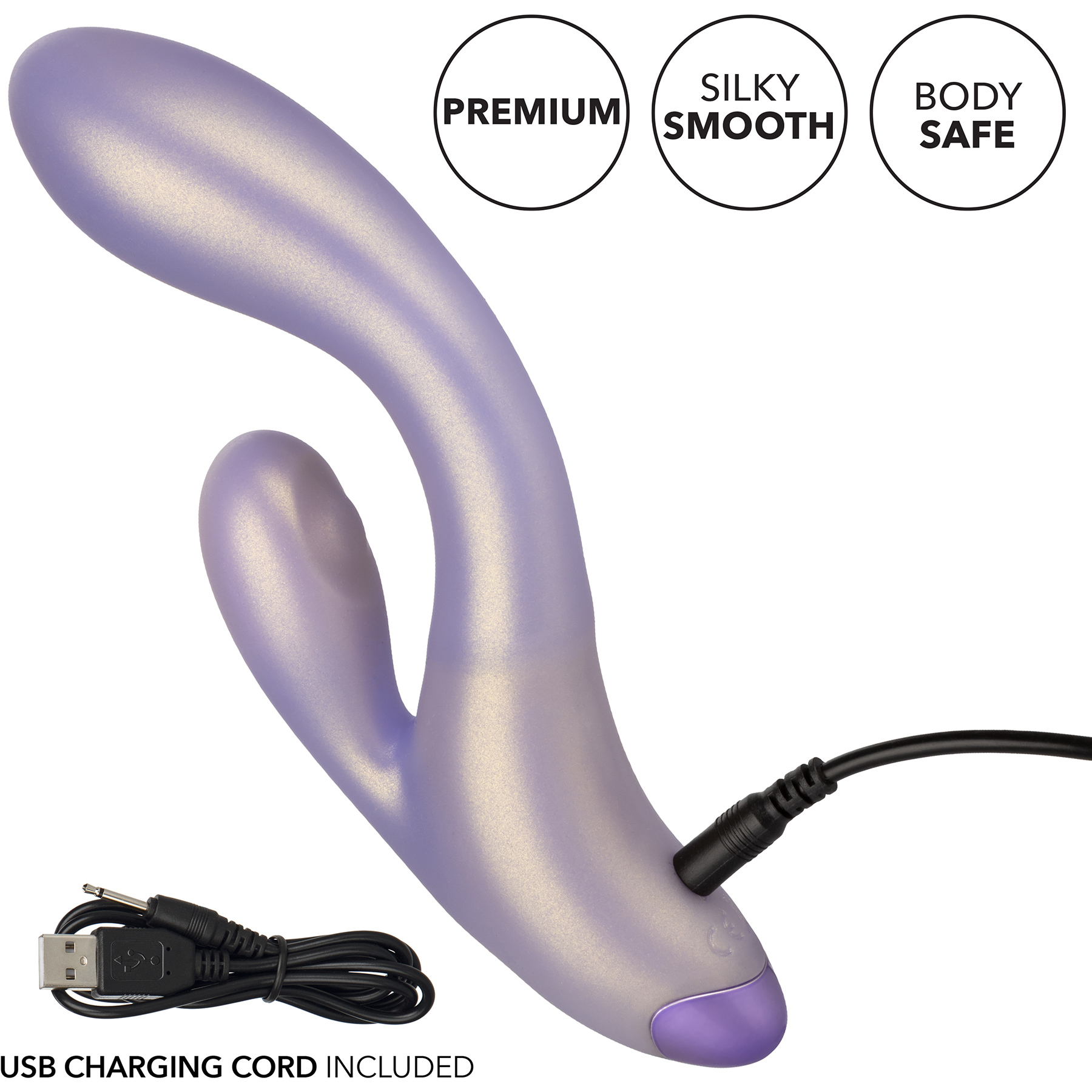 G-Love G-Thumper Silicone Rechargeable Waterproof Dual Stimulation Vibrator By CalExotics - Charging