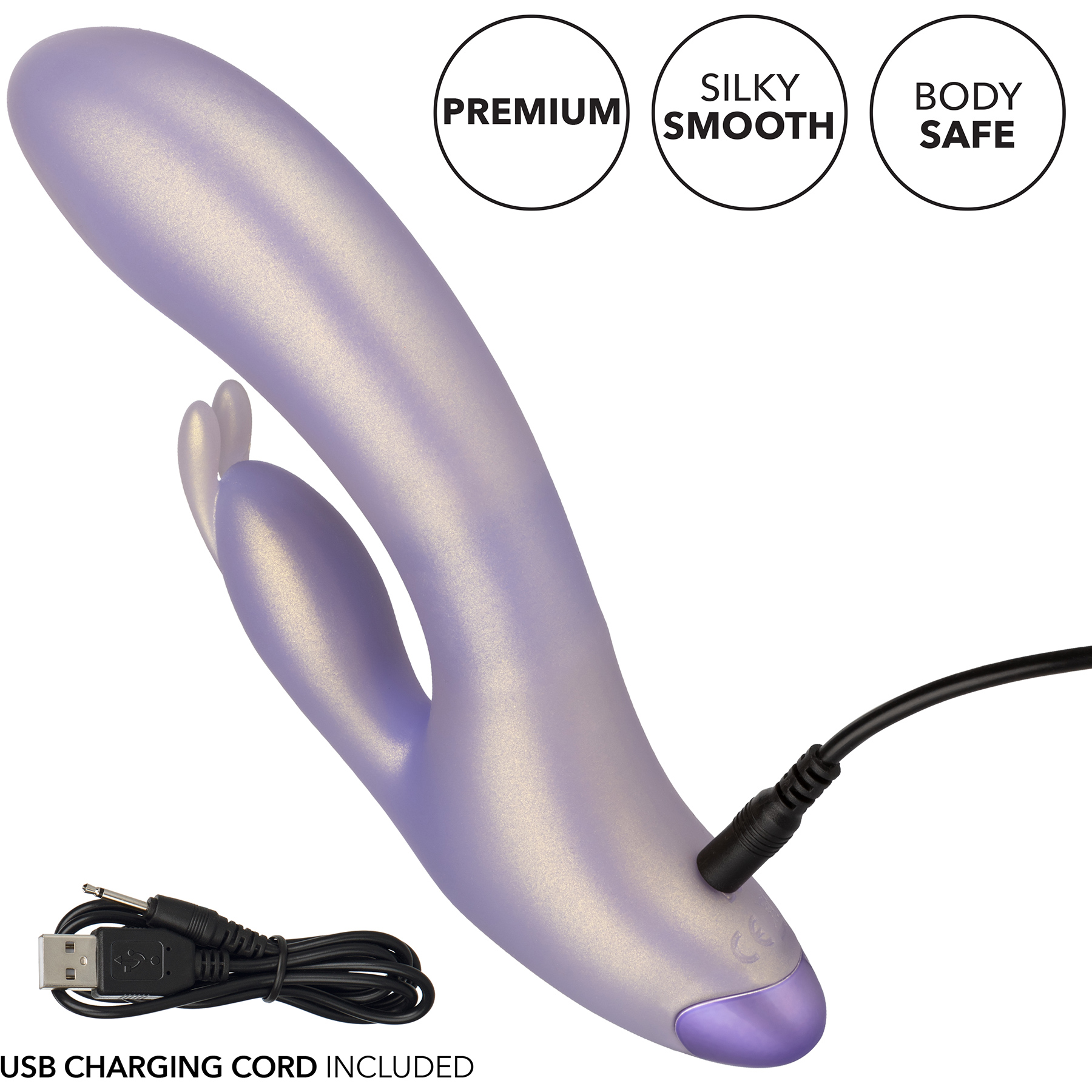 G-Love G-Bunny Silicone Rechargeable Waterproof Dual Stimulation Vibrator By CalExotics - Charging