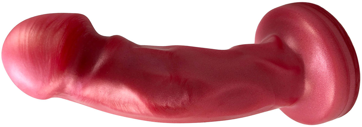 Splendid Dual-Density Silicone Dildo By Uberrime - Medium, Cosmic Pink
