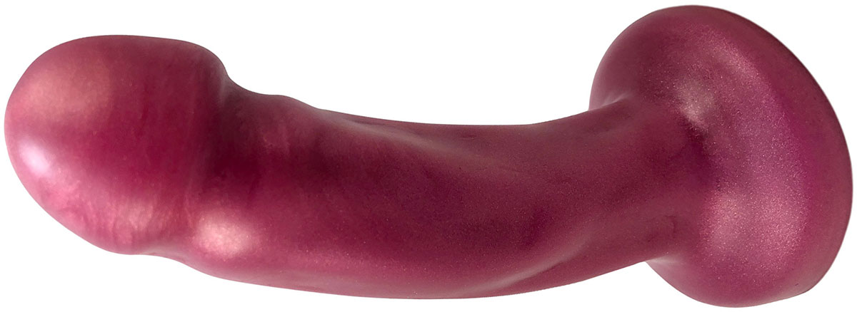 Splendid Dual-Density Silicone Dildo By Uberrime - Small, Scarlet