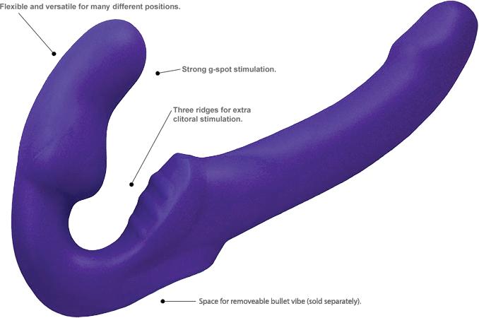 Fuze Tango Double Ended Dildo - Purple Info