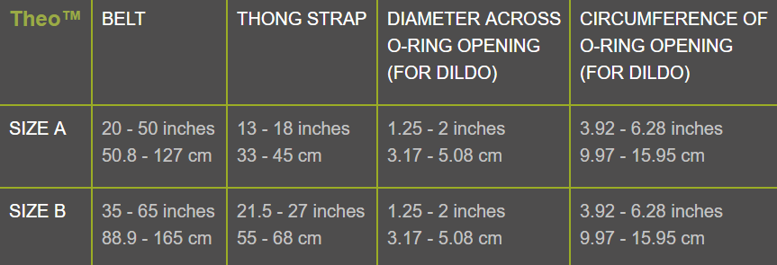 Theo Size Chart