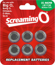 AG10 - LR1130 Batteries 6 Pack By Screaming O