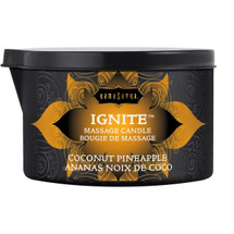 Kama Sutra Ignite Massage Oil Candle - Coconut Pineapple - 6 oz
