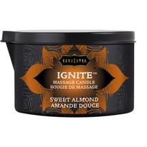 Kama Sutra Ignite Massage Oil Candle - Sweet Almond - 6 oz