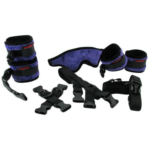 Liberator Black Label Bed Buckler Restraint System - Fluffy Purple