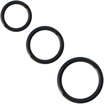 Fantasy C-Ringz Silicone 3-Ring Stamina Set By Pipedream - Black