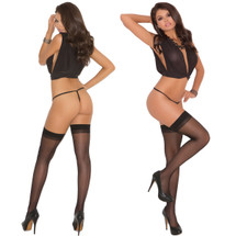 Elegant Moments Sheer Thigh-High With Back Seam