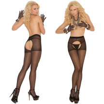 Elegant Moments Sheer Crotchless Pantyhose