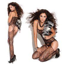 Vivace Lace Suspender Bodystocking by Elegant Moments