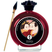 Shunga Edible Body Paint - Sparkling Strawberry Wine 3.5 fl oz