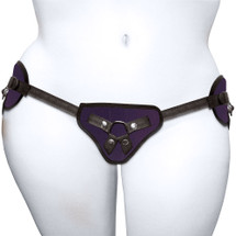 Plus Size Beginner's Purple Strap-On Harness by Sportsheets