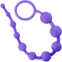 Luxe Silicone 10 Anal Beads by Blush Novelties - Purple
