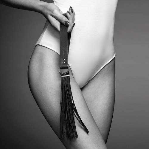 Bijoux Indiscrets MAZE TASSEL FLOGGER BLACK