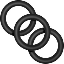 Performance VS2 Pure Premium Small Silicone Cock Rings By Blush Novelties - Black