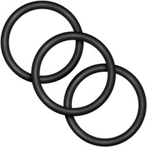 Performance VS3 Pure Premium Large Silicone Cock Rings By Blush Novelties - Black