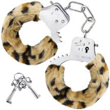 Temptasia Cuffs By Blush Novelties - Leopard Furry Handcuffs