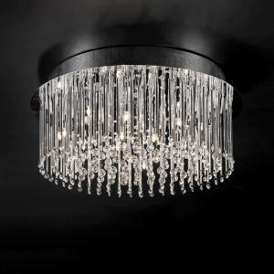 Lighting fixture with crystals