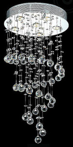 Small Spiral Crystal Chandelier