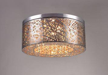 Delicate web design laser cut stainless steel with beautiful crystal details