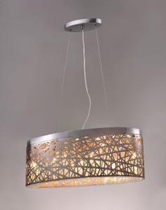 Seven lamp Oval Pendant light fixture.