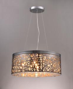 Nine lamp Round Pendant light fixture.