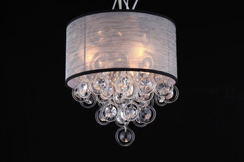 Elegant organza shade flush mount chandelier