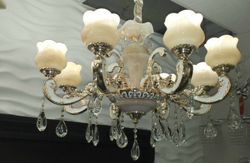 Exquisite Natural Onyx Chandelier