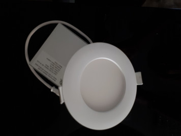 SUPER THIN ROUND LED PANEL/POT LIGHT WITH CONNECTION BOX, 4 INCH 9W DIMMABLE (Natural White)