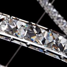 Triple Orbit Crystal LED Fixture