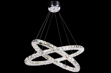 Double Orbit Crystal LED Fixture