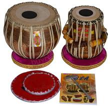 MUKTA DAS Golden Ganesha Tabla Drum Set, 4KG Copper Bayan