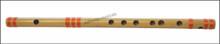 MAHARAJA Bansuri Scale F Natural Med. 14 Inch, Indian Bamboo Flute CGJ
