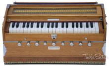 MAHARAJA Harmonium, 9-Stop, Natural Color, Coupler, Bag & Book ABG