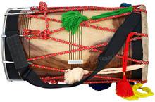 MAHARAJA MUSICALS Natural Shesham Wood Punjabi Bhangra Dhol - ADA