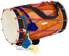 MAHARAJA Punjabi Dhol, Natural Color, Straight, Mango Wood - DBH