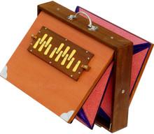 MAHARAJA MUSICALS Concert Shruti Box, Big Size, Natural Color With Bag - BCG