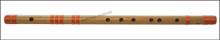 MAHARAJA Bansuri, Scale G# Sharp Bass 24 Inch, Indian Bamboo Flute CGE